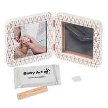 Подвійна рамка Baby Art з відбитком My Baby Touch (Мідно-біла)