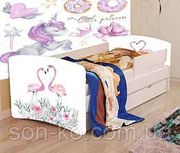 Кровать детская Фламинго без шухляды. Бесплатная доставка