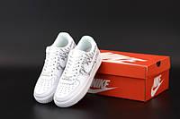 """Кросівки жіночі шкіряні Nike Air Force """"Білі Dior"""" р. 38-40, фото 1"""
