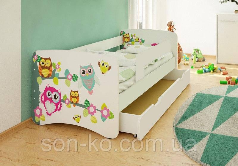 Кровать детская Совы без шухляды. Бесплатная доставка