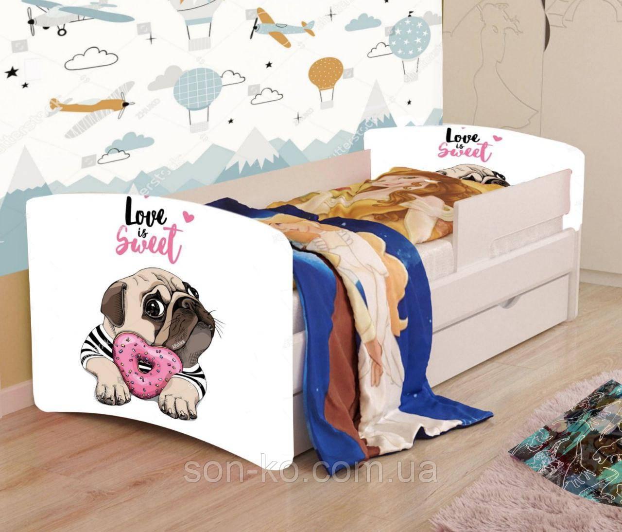 Ліжко дитяче Мопс без ящика. Безкоштовна доставка