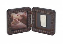 Подвійна рамка Baby Art з відбитком My Baby Touch Baby Art мідно - темно сіра