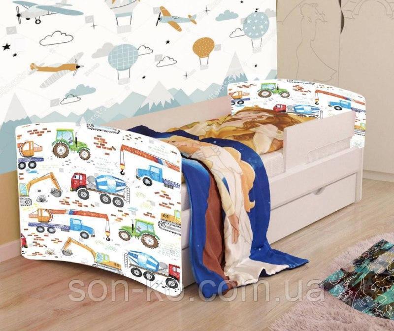 Ліжко дитяче Машинки без ящика. Безкоштовна доставка