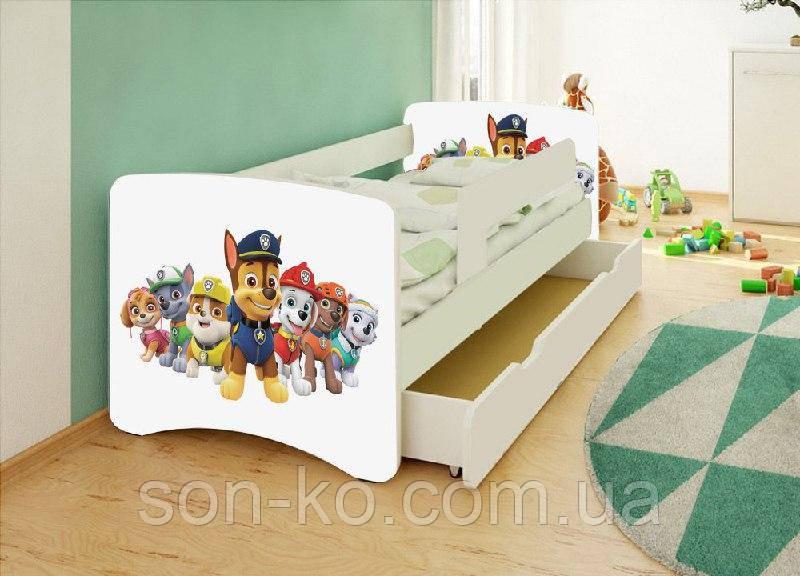 Ліжко дитяче Собачий патруль без ящика. Безкоштовна доставка