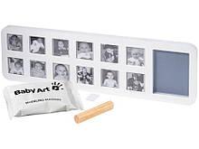 Рамочка з відбитком 1 рік - Baby Art фото 3x4 12 шт + ліплення відбиток