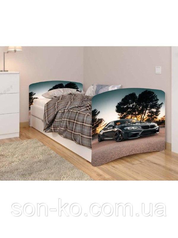 Ліжко дитяче Чорна Машина без ящика. Безкоштовна доставка