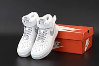 """Кросівки унісекс шкіряні Nike Air Force """"Білі"""" р. 37-39-41-45, фото 1"""