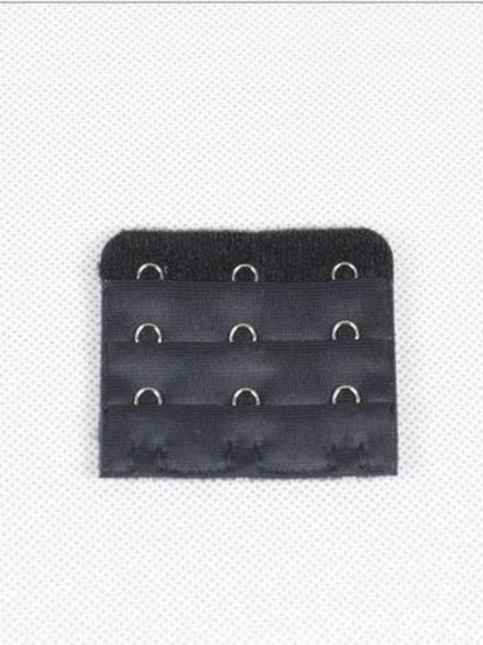 Застібка подовжувач для бюстгальтера на три гачка 05 ( чорний 6 шт. )