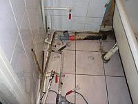 Демонтаж труб водоснабжения