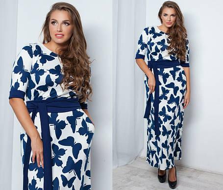 Т1037 Платье в пол размеры 48-54 , фото 2