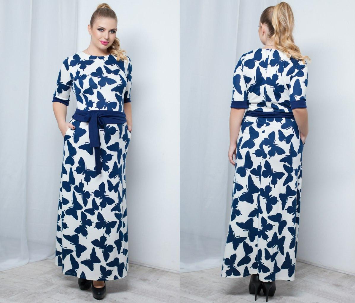Т1037 Платье в пол размеры 48-54
