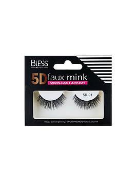 Накладные ресницы Bless Beauty 5D Faux Mink 5D-01