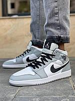 Кроссовки мужские серые Nike Air Jordan, мужские кроссовки найк аир джордан низкие