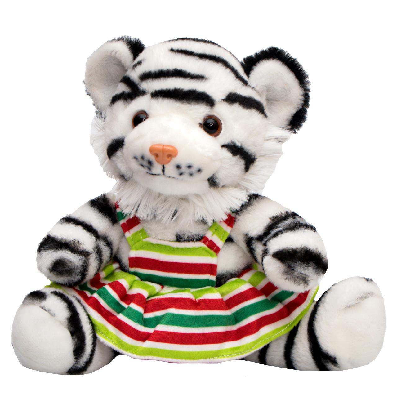 М'яка іграшка - тигреня у спідничці, 21 см, коричневий, плюш (395735)