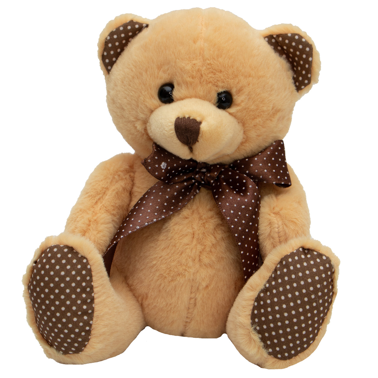 М'яка іграшка - ведмідь, 15 см, світло-коричневий, плюш (395759)