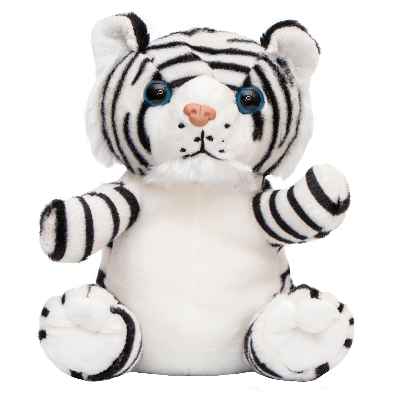 М'яка іграшка - тигр, 20 см, білий, плюш (395780)
