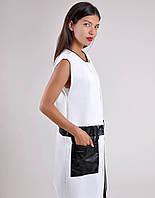 Женская Кардиган с карманами эко-кожа