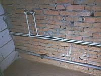 Штробление стен под трубы/кирпич