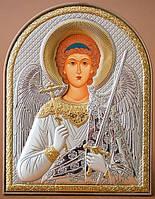 Икона Ангел Хранитель Silver Axion (Греция) Серебряная с позолотой 40 х 56 мм