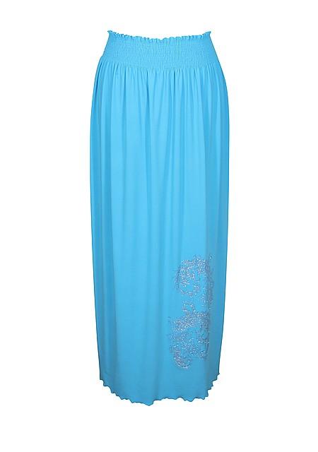 Длинная широкая юбка Узор поливискоза