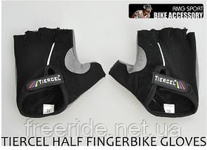 Велоперчатки беcпалые Tiercel черные (XL), фото 2