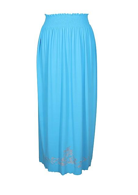 Длинная юбка на резинке Винтаж