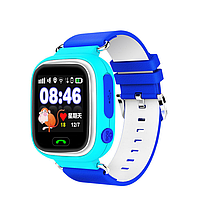 Детские смарт-часы Q90pro LBS+GPS+WIFI с шагомером и кнопкой SOS синие