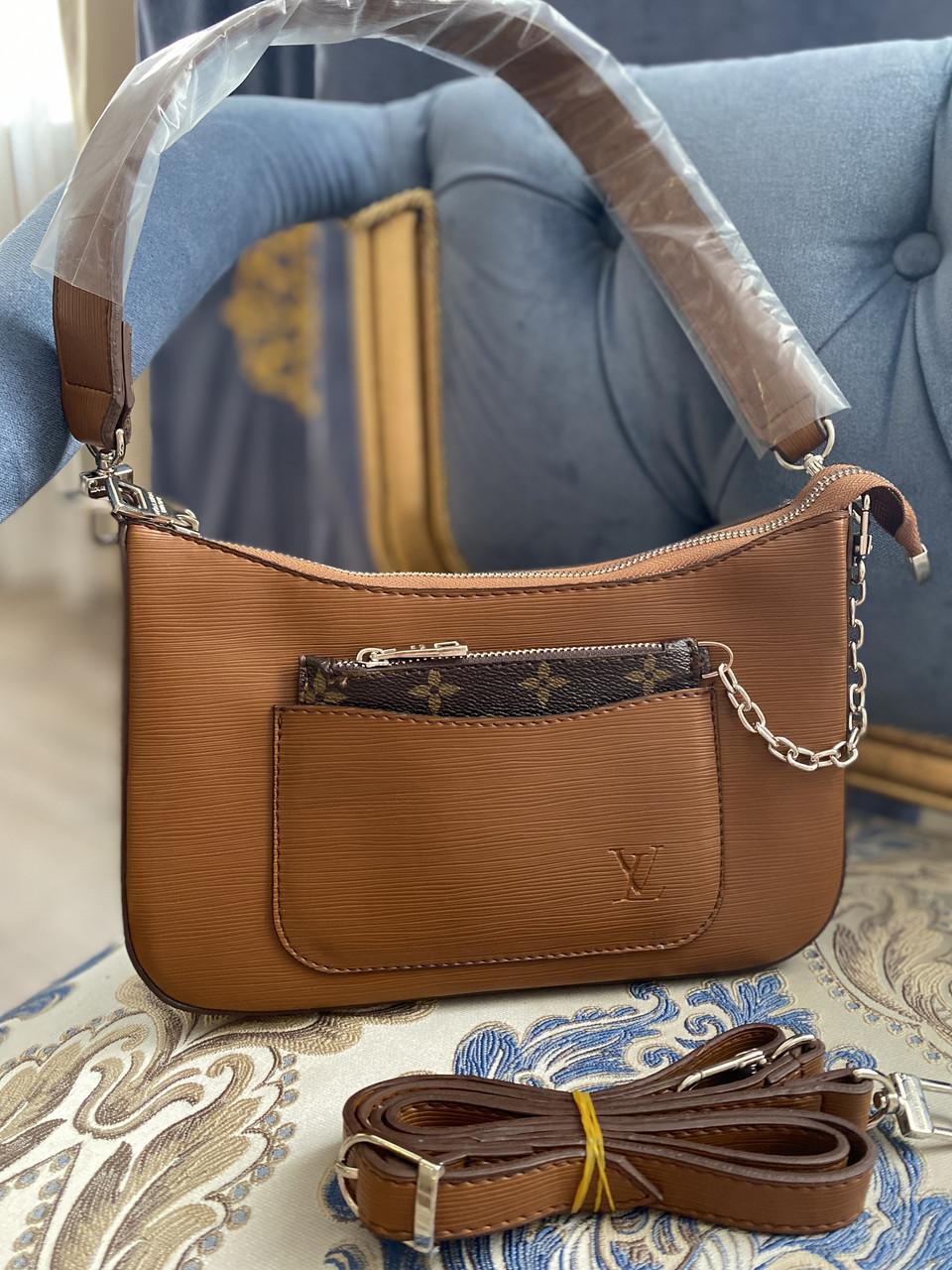 Женская сумка/коричневая сумка/ модная женская сумка Louis Vuitton (люкс копия).