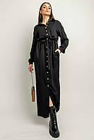 Нежное повседневное платье-рубашка Джади с отложным воротником 42-56 размер разные цвета