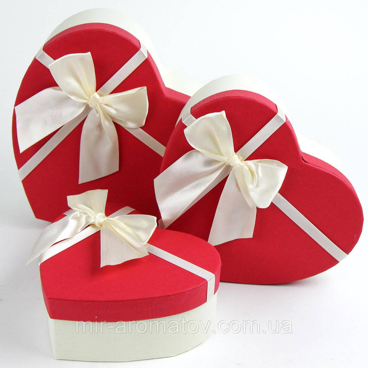 Подарункова коробка серце (комплект 3 шт.)