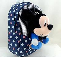 Детский рюкзак с игрушкой Mickey и Minnie Mouse