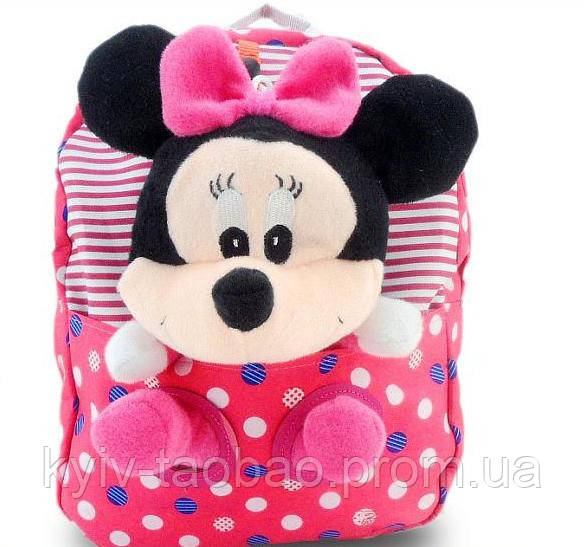 Детский рюкзак с игрушкой Mickey и Minnie Mouse Disney