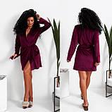 Темно-серый женский велюровый халат 15-772-4, фото 4