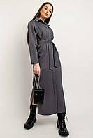 Трендовое повседневное платье-рубашка Альба прямого свободного силуэта 42-56 размер разные цвета