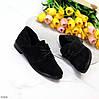 Классические черные замшевые женские туфли из натуральной замши низкий ход, фото 2
