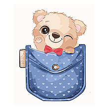 Детская Картина по Номерам Мишка в кармане 30х40 см Strateg