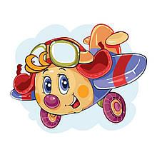 Детская Картина по Номерам Самолетик 30х40 см Strateg