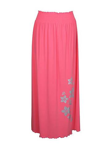 Длинная юбка большого размера Цветы поливискоза
