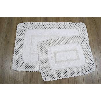 Набор ковриков Irya - Lizz krem кремовый 70*100+45*65 (svt-2000022213929)