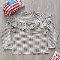 Блуза в горошок для дівчинки зріст 128-146 см