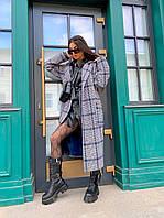 Жіноче кашемірове пальто в клітку під запах міді, фото 1