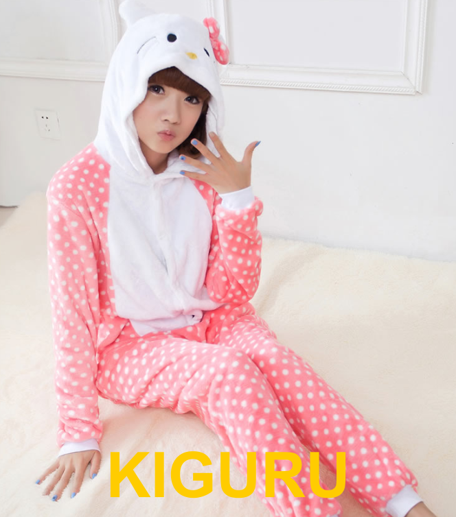 Кигуруми пижама Хеллоу Китти в горошек