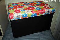 Складной ящик-пуфик для игрушек