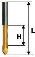 Фреза кромочная прямая ф9.5х25, хв.8мм (арт.10531)