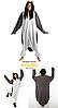 Костюм пингвина кигуруми серый с белым, фото 2