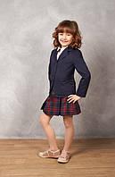 Классический жакет для девочки школьный синий, школьный жакет для девочки, пиджак школьный для девочки