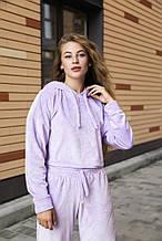 """Женский худи """" Lilac"""" укороченный фиолетовый"""