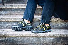 Кросівки чоловічі спортивні чорні з жовтим, фото 3
