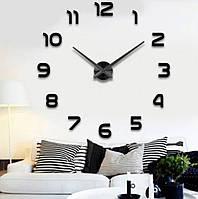 Часы настенные Diy Clock New black с цифрами SKL11-322347