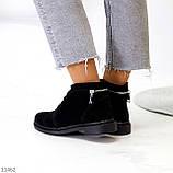 Удобные повседневные черные замшевые женские ботинки натуральная замша, фото 8